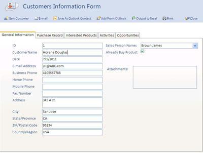 Sales Management database Software