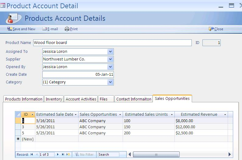 supply chain management software screen